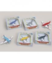 Speelgoed vliegtuig zilver 15 cm