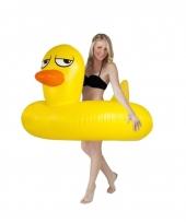 Speelgoed zwemband gele eend 120 cm