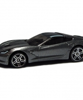 Speelgoedauto grijze chevrolet corvette stringray 2014