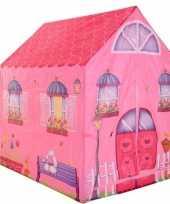 Speeltent speelhuis roze huis 102 cm