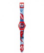 Spiderman horloge met wijzers voor jongens