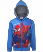 Spiderman vestje met capuchon blauw 10092401