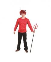 Spieren shirt voor volwassenen rood