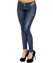 Spijkerbroek print legging