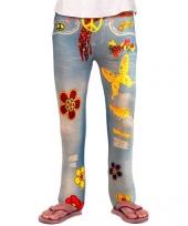Spijkerjeans legging hippie voor meiden