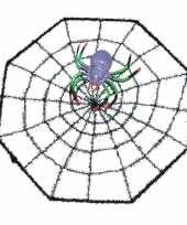 Spinnenweb 29 x 29 cm halloween versiering met spinnetje