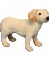 Staande pluche labrador puppy 35 cm