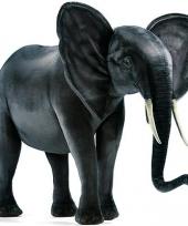 Staande realistische olifant 120 cm