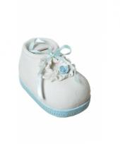 Stenen spaarpotten babyschoenen