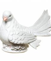 Stenen spaarpotten witte duif
