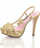Sterretjes pumps gouden glitter