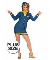Stewardess damesuniform grote maat