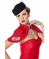 Stewardessen hoedje blauw