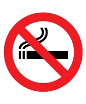 Sticker niet roken