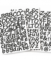 Stickervel met het alfabet 3 cm