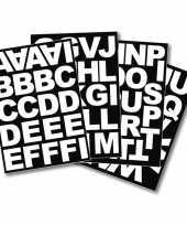 Stickervel met het alfabet blokletters 5 cm