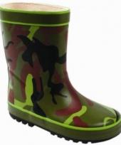 Stoere army regenlaarzen voor kids