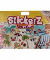 Strand kinder stickers voor autoraam