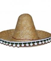 Stro sombrero 25 cm voor kinderen