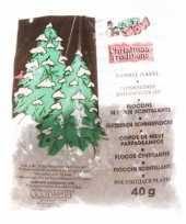 Strooi sneuwvlokjes glitter 40 gram