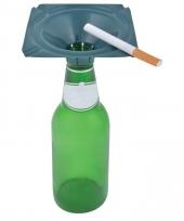 Studenten gadget asbak op fles blauw