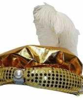 Sultans hoeden goudkleurig