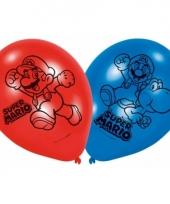 Super mario thema ballonnen 6 stuks