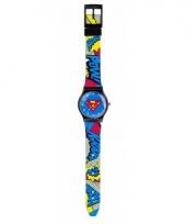 Superman horloge met wijzers voor jongens