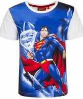 Superman t-shirt witte mouw