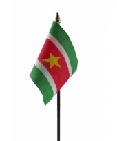 Surinaamse landenvlag op stokje