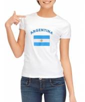 T shirt met argentijnse vlag print voor dames