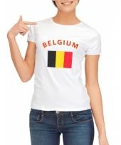 T shirt met belgische vlag print voor dames