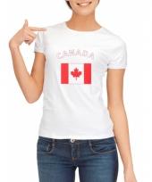 T shirt met canadese vlag print voor dames