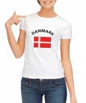 T shirt met deense vlag print voor dames