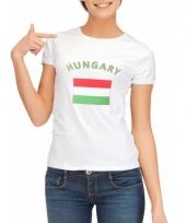 T shirt met hongaarse vlag print voor dames