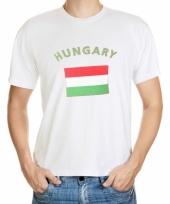 T shirt met hongaarse vlag print