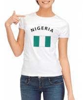 T shirt met nigeriaanse vlag print voor dames