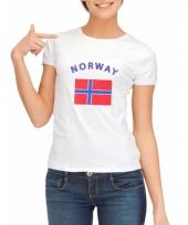 T shirt met noorse vlag print voor dames