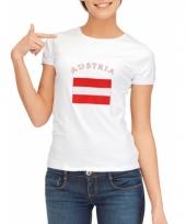 T shirt met oostenrijkse vlag print voor dames
