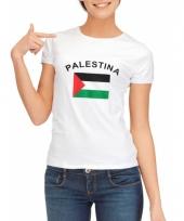 T shirt met palestijnse vlag print voor dames