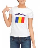 T shirt met roemeense vlag print voor dames