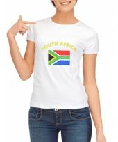 T shirt met zuid afrika vlag print voor dames