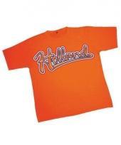 T shirt oranje met holland opdruk 10047884