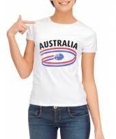T shirts met australie opdruk voor dames