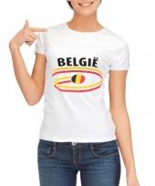 T shirts met belgie opdruk voor dames