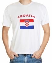 T shirts met kroatische vlag print