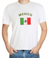 T shirts met mexicaanse vlag print