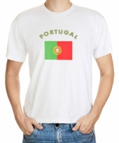 T shirts met portugese vlag print