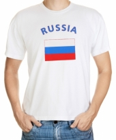 T shirts met russische vlag print