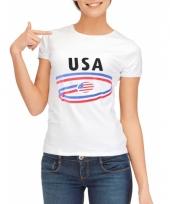 T shirts met usa opdruk voor dames